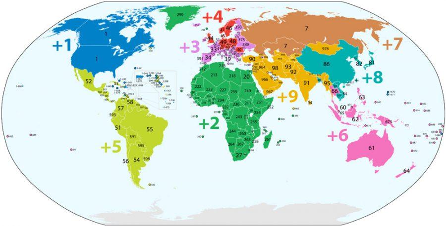کد کشورها | پیش شماره تمامی کشورها